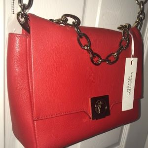 25600dc3aa Versace Bags | Collection Leather Crossbody Bag Red | Poshmark